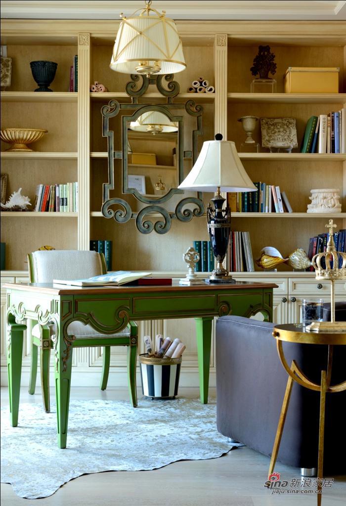 欧式 别墅 书房图片来自用户2745758987在【高清】格调色彩 品味生活Beautiful Mind36的分享