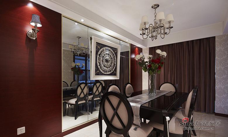 新古典 三居 餐厅图片来自用户1907701233在【高清】8万装126平新古典时尚大气家31的分享