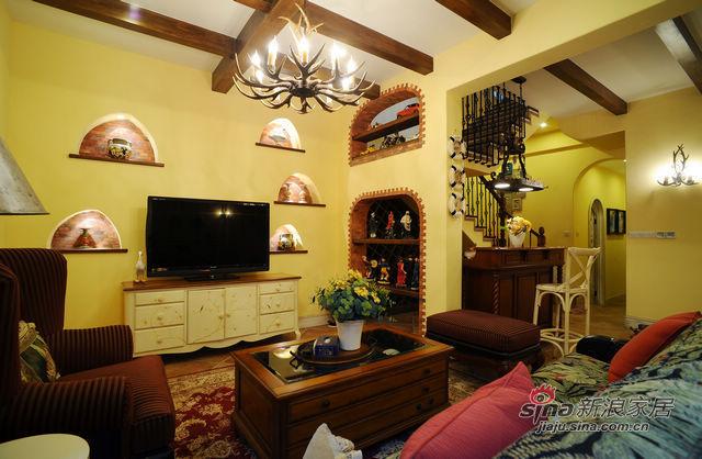 地中海 别墅 客厅 温馨图片来自用户2757320995在充满阳光的地中海80的分享