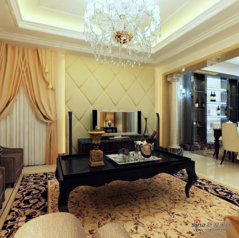 新古典 三居 客厅图片来自用户1907664341在全包8万元打造 龙湾城澜庭 170平 三居14的分享