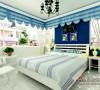 主卧室以蓝色,白色为主题颜色,良好的采光