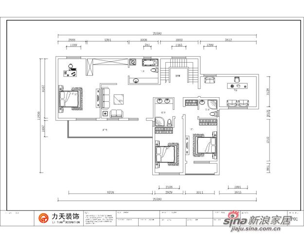 简约 别墅 户型图图片来自阳光力天装饰在宝安江南城别墅A户型478.88㎡现代简约44的分享