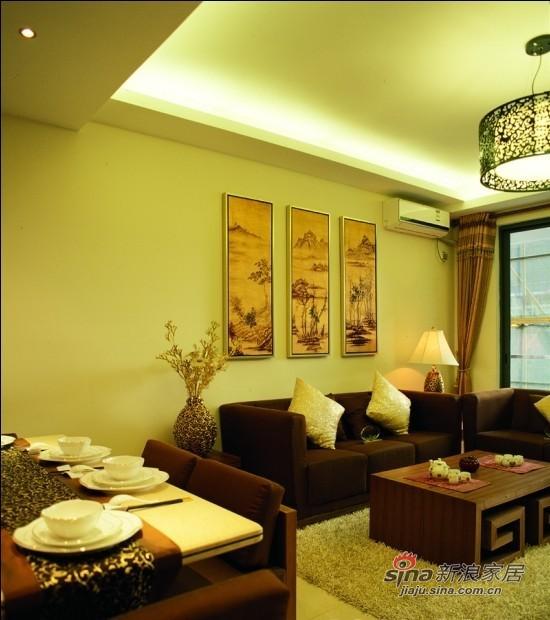 中式 三居 客厅图片来自用户1907658205在传统与现代结合混搭风三居19的分享