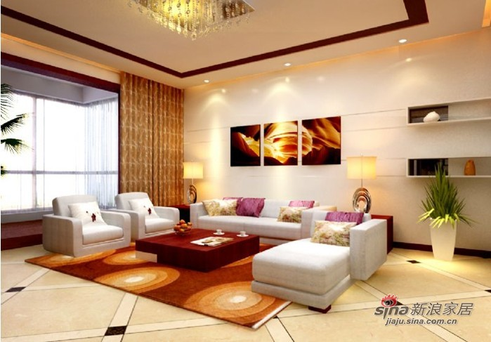简约 三居 客厅图片来自用户2737759857在长房时代城22的分享