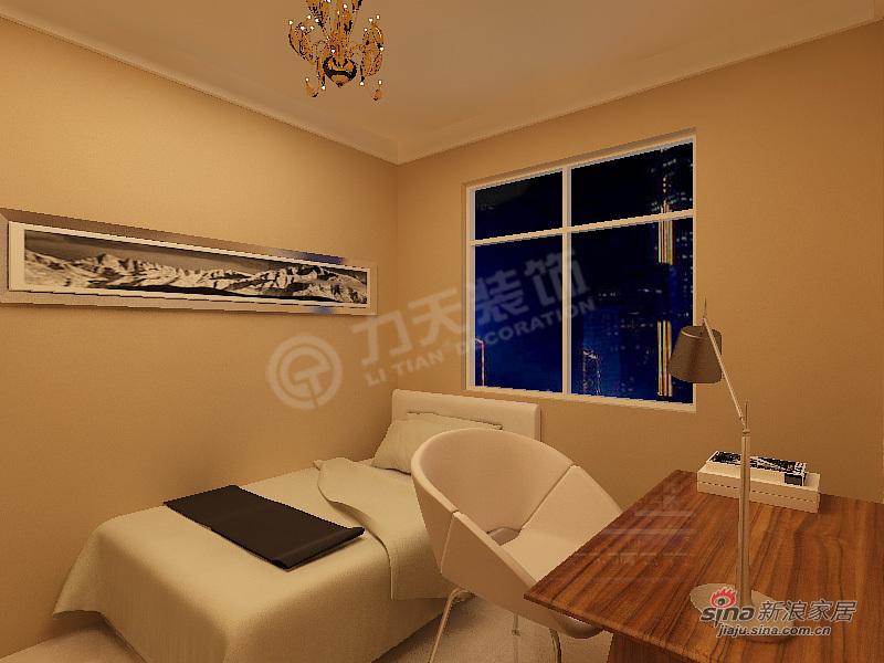 现代 二居 书房 屌丝图片来自阳光力天装饰在永泰枕流GOLF公寓-C2户型2室2厅1卫1厨-现代风格95的分享