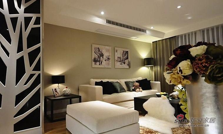 简约 三居 客厅图片来自用户2738820801在小两口10万装修98平简约大三居29的分享