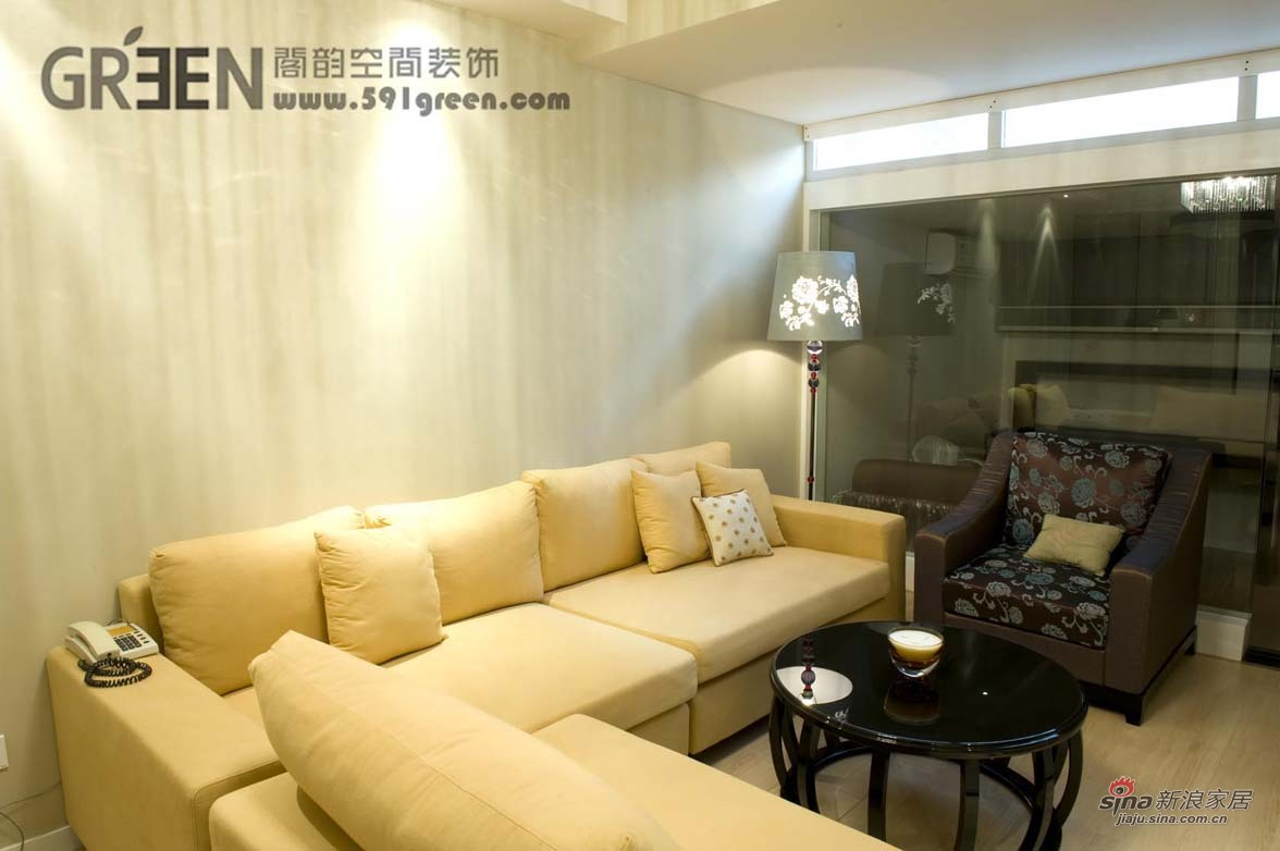 简约 二居 客厅图片来自阁韵空间装饰在悠悠新东方51的分享