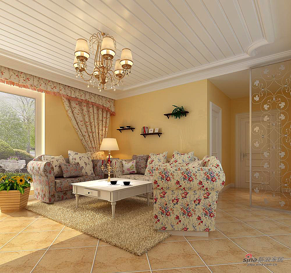 田园 三居 客厅图片来自用户2557006183在伊湾尊府简约田园62的分享