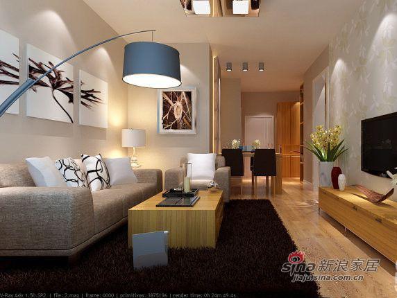 简约 三居 客厅图片来自用户2738829145在复地东湖国际三居室简约风格78的分享