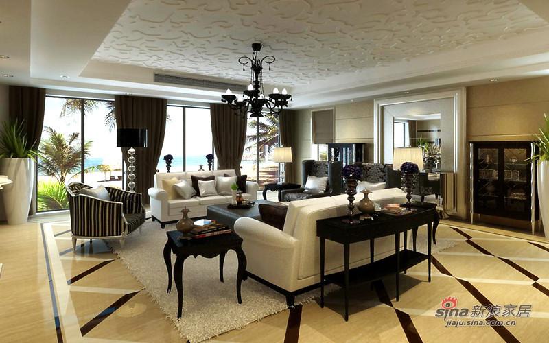 欧式 别墅 客厅图片来自用户2772873991在全力打造450平保利垄上欧式新古典设计72的分享
