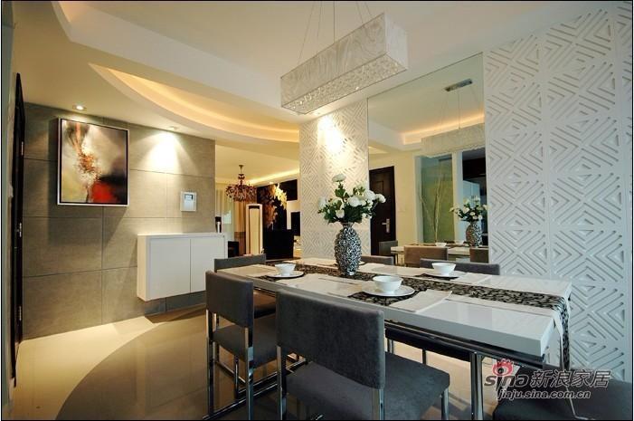 简约 三居 餐厅图片来自用户2738829145在8.8万装扮130平现代简约三居室39的分享