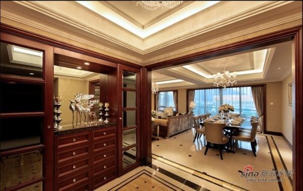 室内装修设计-林业厅单位房欧式六居室-餐