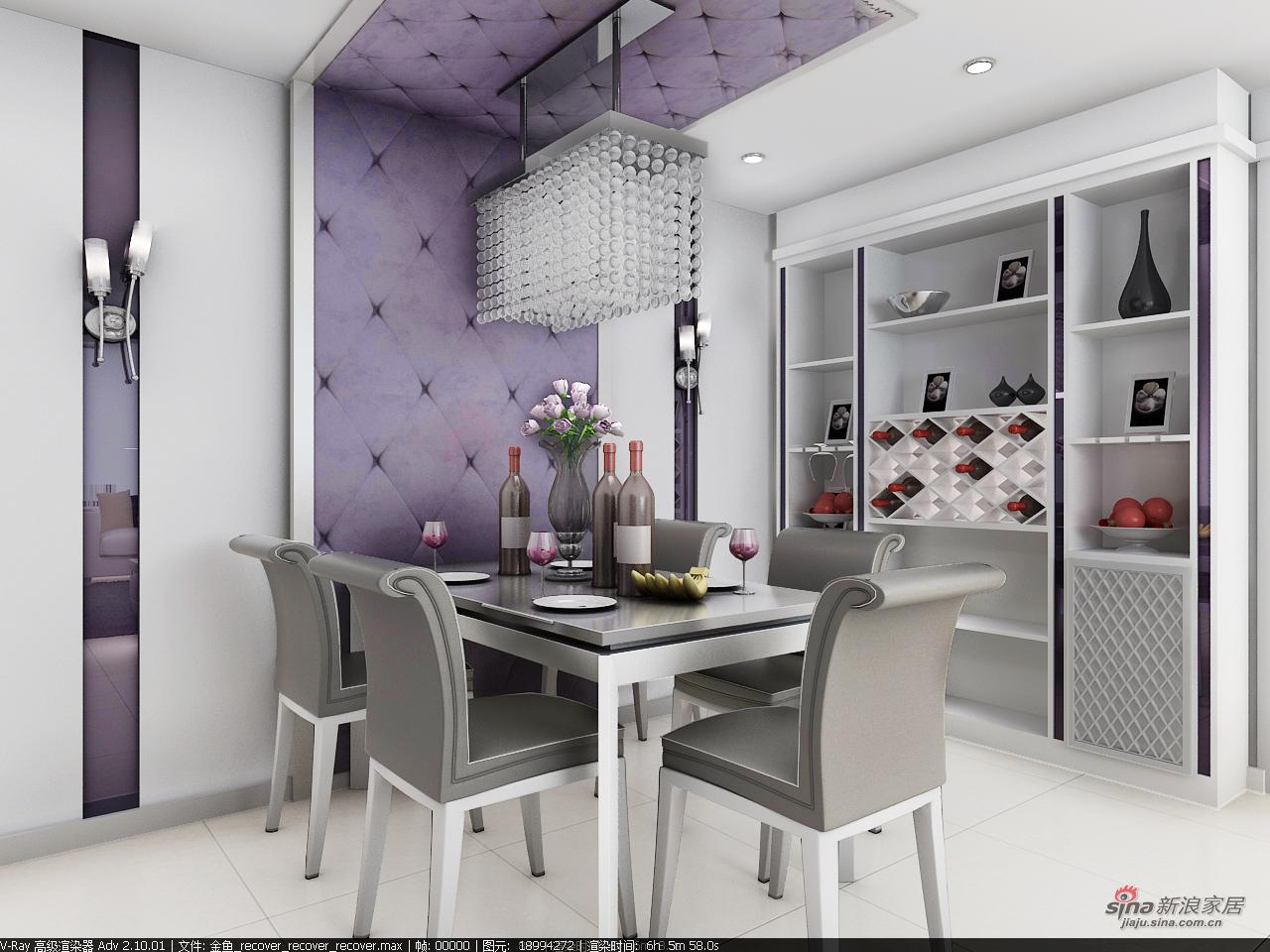 其他 三居 餐厅图片来自用户2558746857在紫色典雅家装三居室89的分享