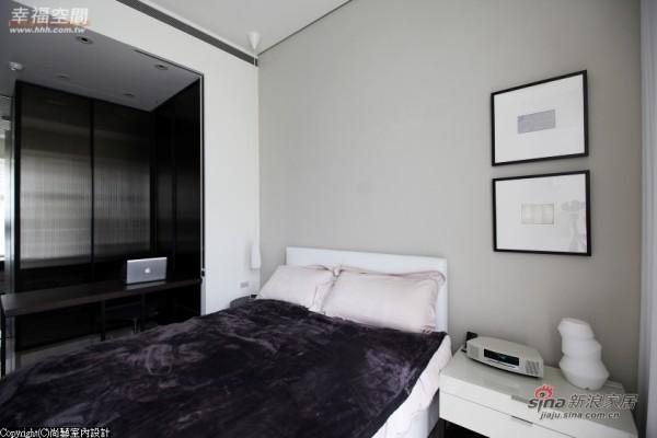 雾乡色的床头设计围塑温柔简约的卧眠表情