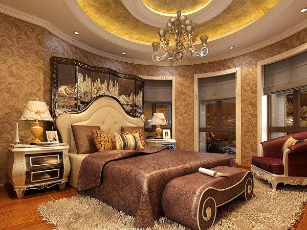 新古典 别墅 卧室图片来自用户1907701233在嘉禾城别墅34的分享