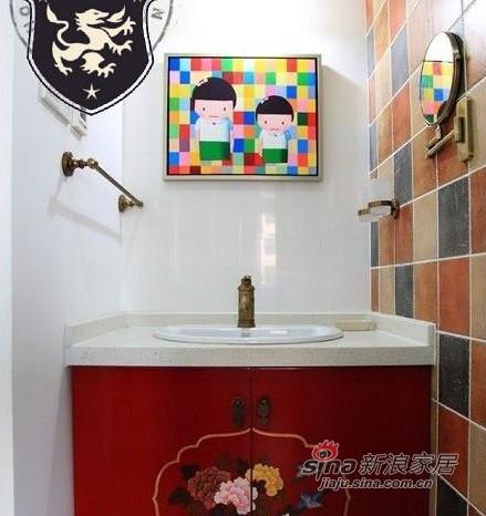 混搭 三居 卫生间图片来自用户1907689327在16万打造109平颜色跳动三口之家85的分享