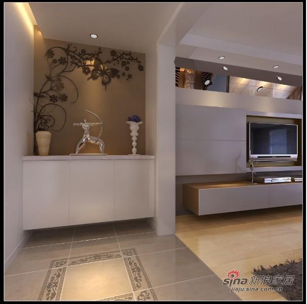 现代 三居 玄关图片来自用户2772355195在14W装饰160平米清新收纳小家族64的分享