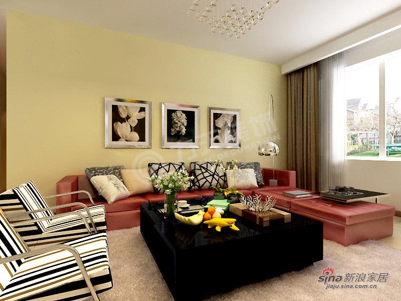 简约 三居 客厅图片来自阳光力天装饰在【高清】3室2厅现代简约风格美居36的分享