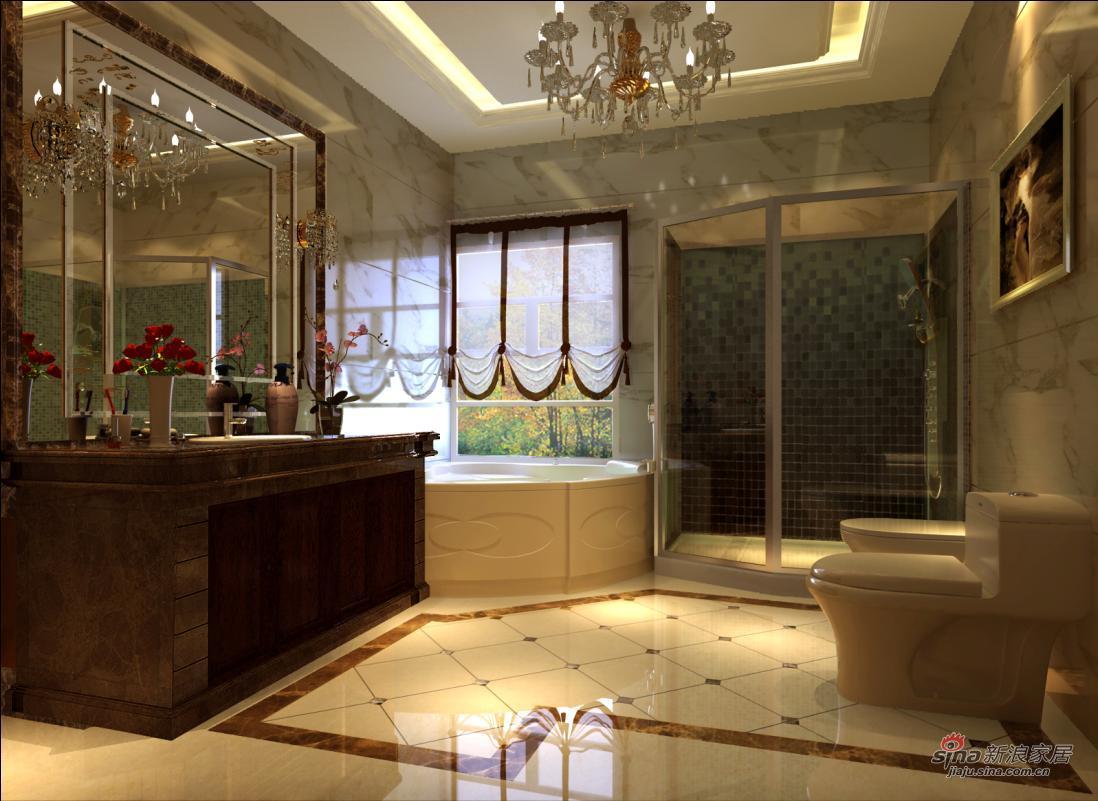 中式 别墅 卫生间图片来自用户1907659705在中式古典配饰实景57的分享