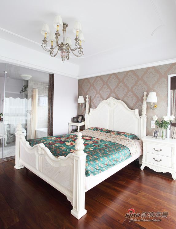 欧式 二居 卧室图片来自用户2757317061在5.6万三口之家简欧温馨2居61的分享