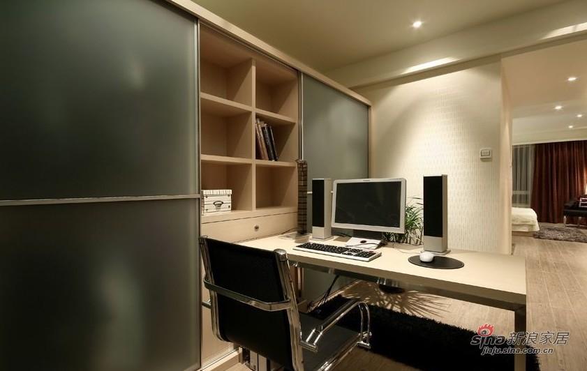 简约 三居 书房图片来自用户2737782783在年轻业主89㎡时尚三口之家设计33的分享