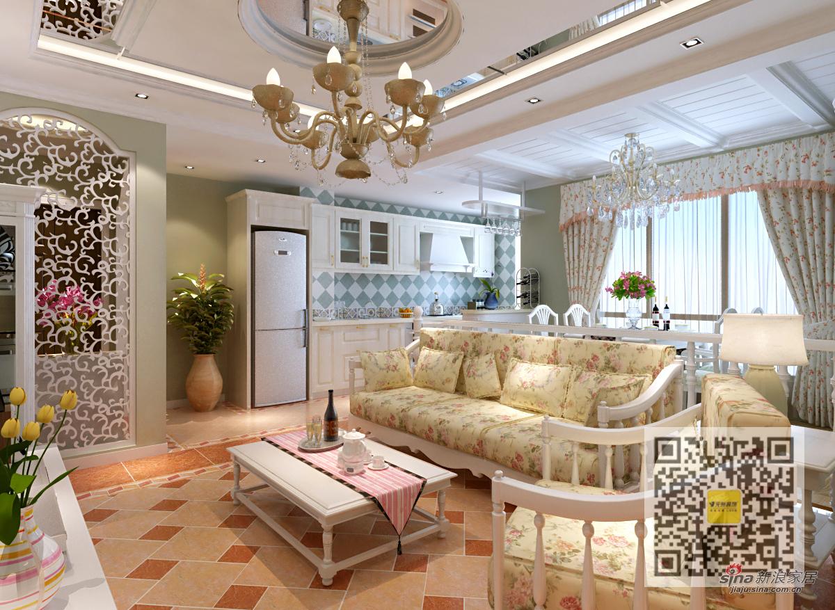 田园 二居 客厅图片来自用户2737946093在欧式田园风格两居室10的分享