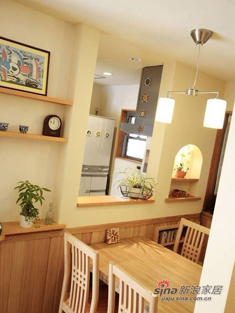 简约 二居 餐厅图片来自用户2557979841在5W打造60平米日式简约家48的分享