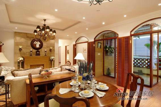 美式 二居 餐厅图片来自用户1907685403在9万营造100平美式风格三居79的分享