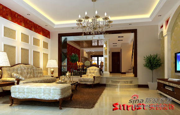 欧式 别墅 客厅图片来自用户2772856065在200平米的欧式奢华38的分享