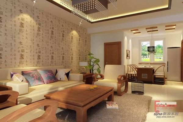格林生活坊-沙发背景墙效果图