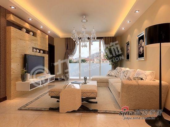 简约 三居 客厅图片来自阳光力天装饰在恒大绿洲三室两厅现代简约13的分享