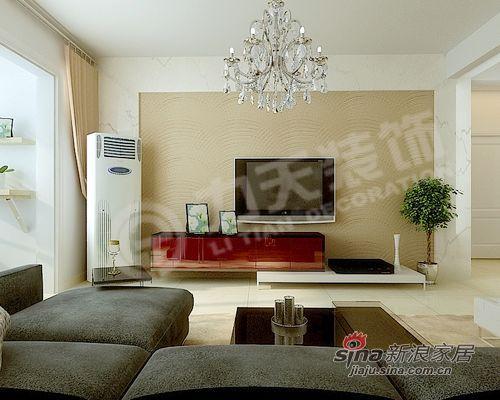 简约 二居 客厅图片来自阳光力天装饰在犀地 明亮中的宁静58的分享