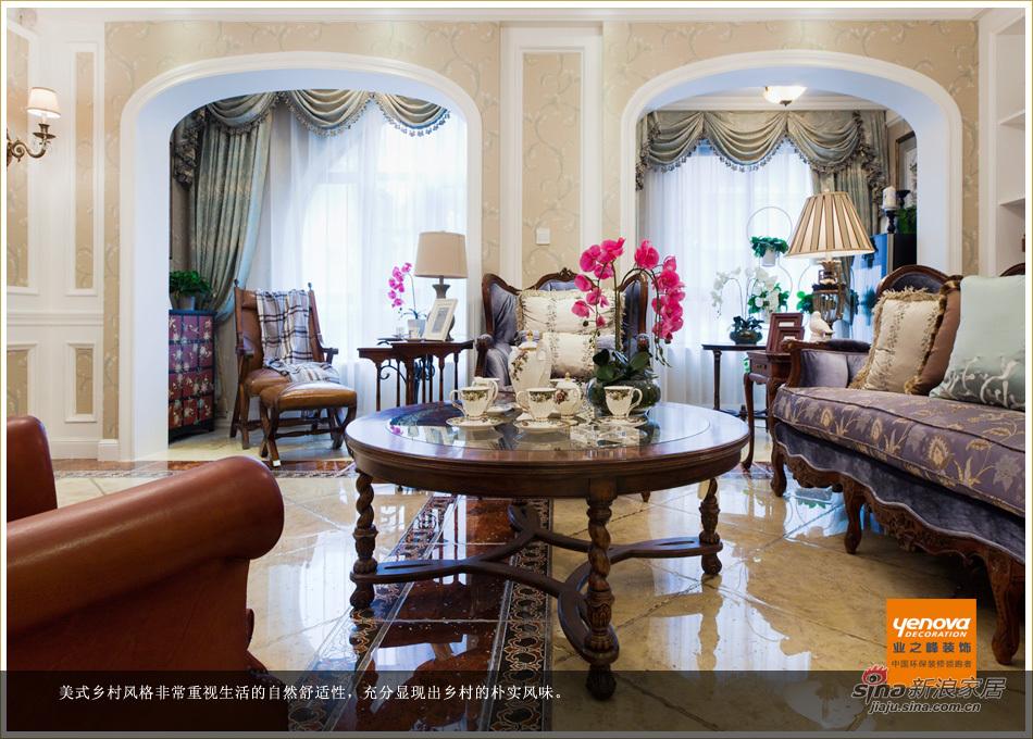 美式 别墅 客厅图片来自用户1907685403在【大片】浪漫美式 优雅生活从此开始53的分享