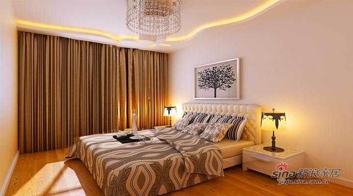 简约 二居 卧室图片来自用户2739081033在.6.7万打造 润园翡翠城 124平 现代简约 两居60的分享