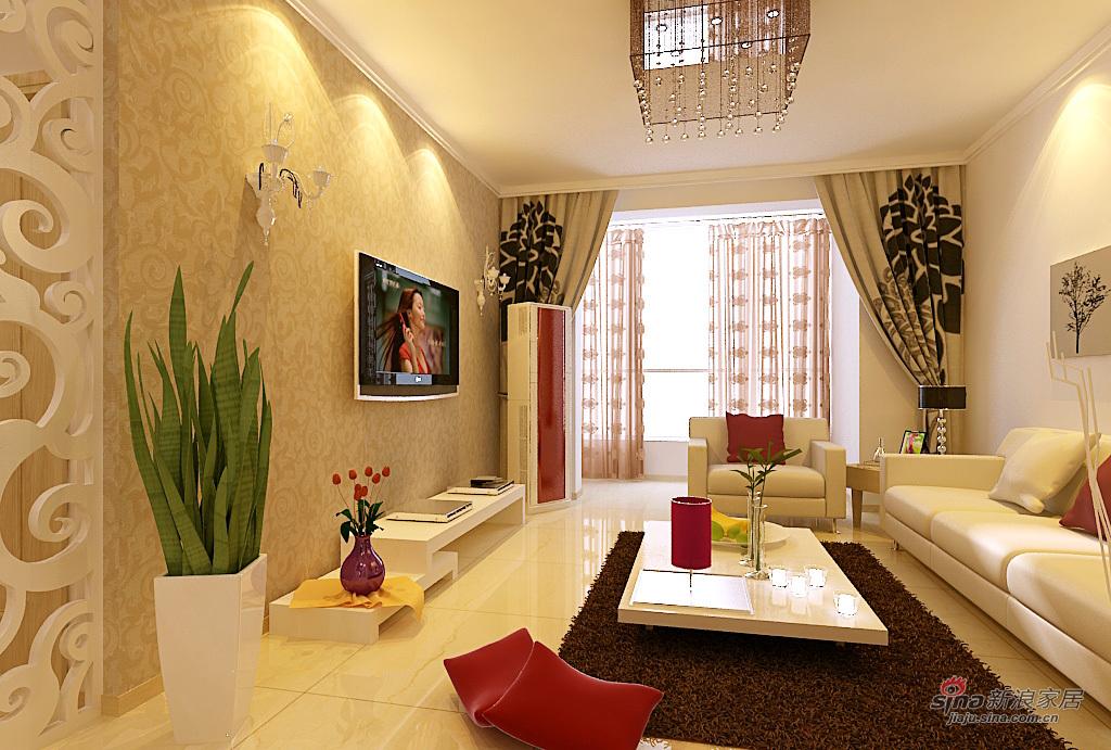 简约 三居 客厅图片来自用户2737782783在新裕家园二人世界17的分享