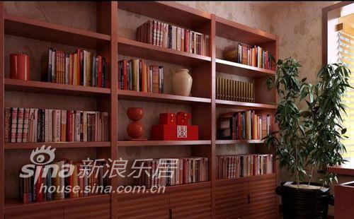 中式 二居 书房图片来自用户2740483635在浪漫中国红75的分享
