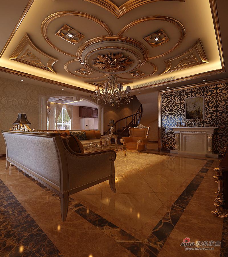 欧式 复式 客厅图片来自用户2772856065在橡树湾复式欧装精品30的分享