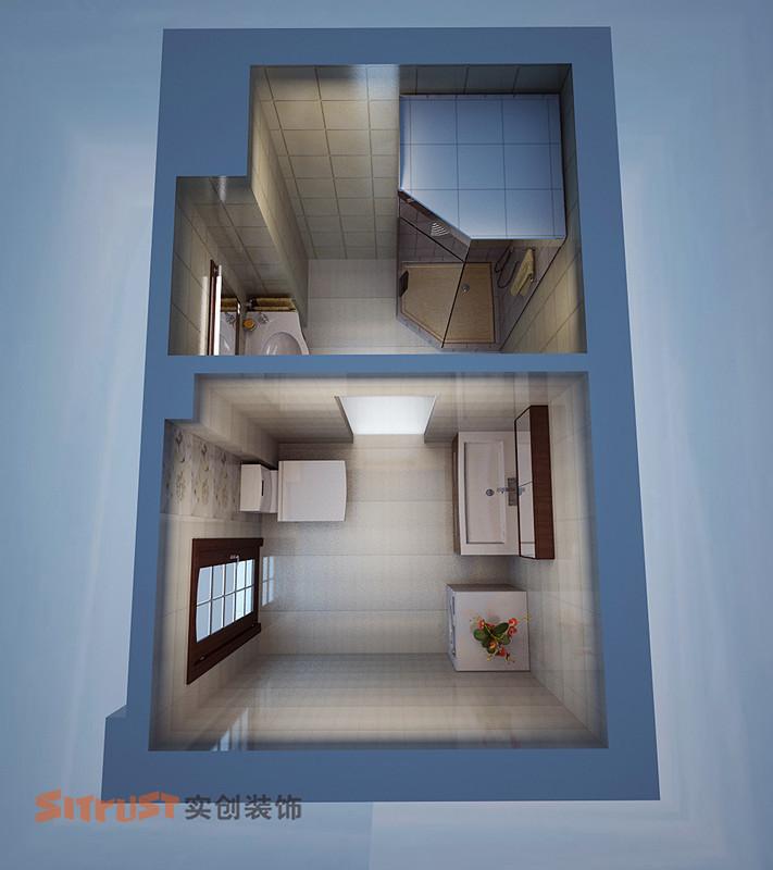 其他 三居 卫生间图片来自用户2771736967在8万宁静打造舒适、暇意现代中式三居室12的分享
