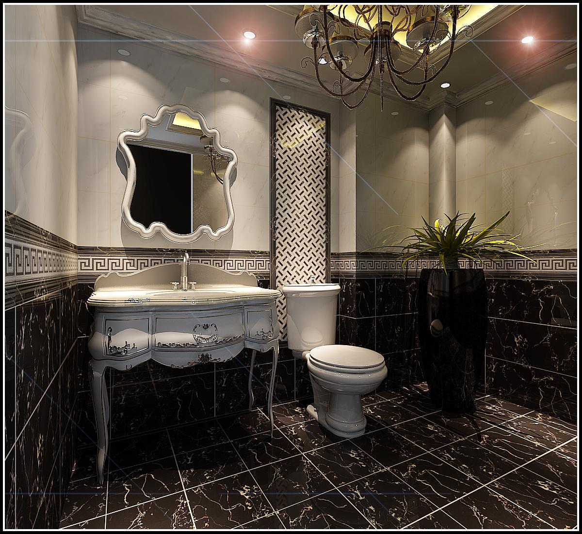 新古典 复式 卫生间图片来自用户1907664341在橡树湾530平古典设计案例91的分享