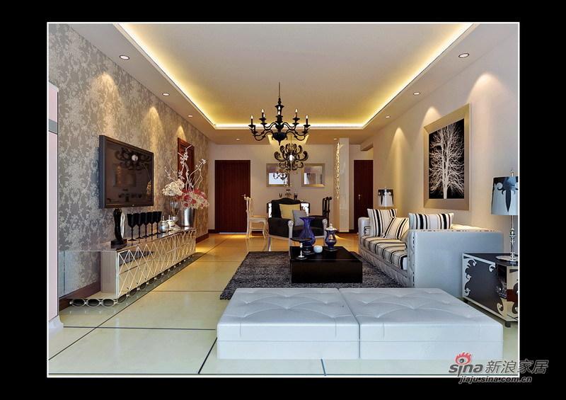 简约 三居 客厅图片来自用户2738829145在130平后现代极简主义三居室32的分享