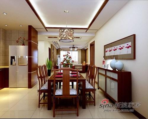 中式 三居 餐厅图片来自用户1907659705在中式5000年文化呈现 高贵+稳重72的分享
