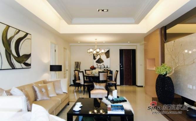 简约 三居 客厅图片来自用户2737759857在10万装时尚122平暖色三居88的分享