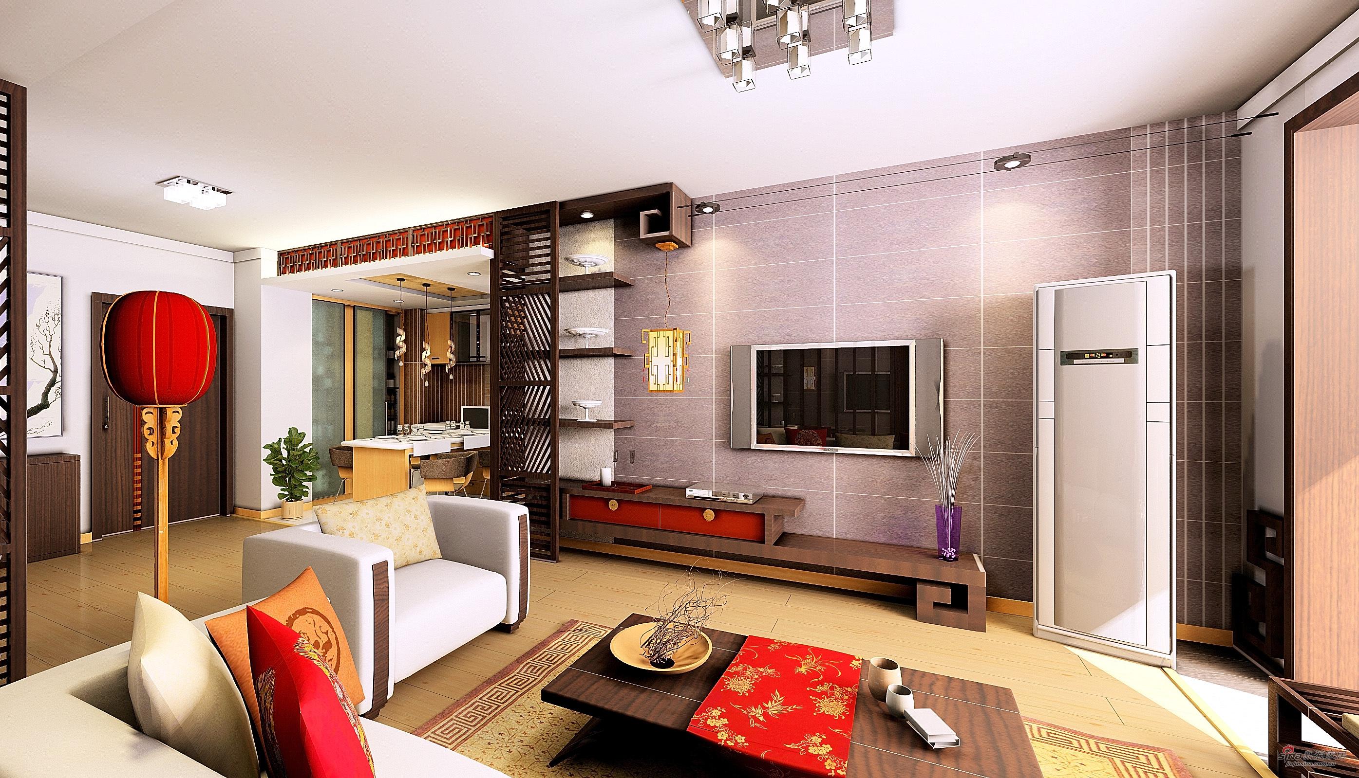 中式 三居 客厅图片来自用户1907659705在中式风格71的分享