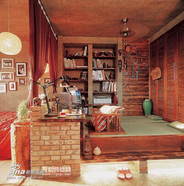 其他 一居 书房图片来自用户2558746857在复古而绚丽的小户型闺房90的分享