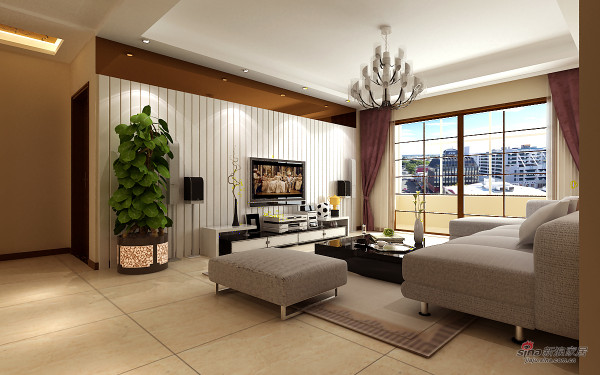 精心打造精装曼哈顿风格三居室