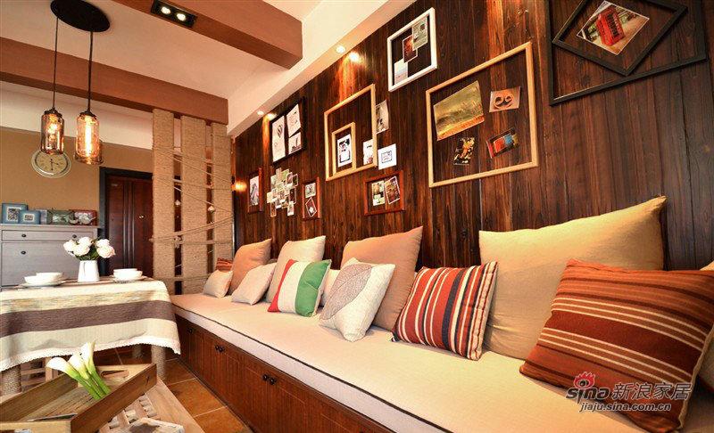 简约 二居 客厅图片来自装修微日记在【高清】10万营造86平简约时尚婚房27的分享