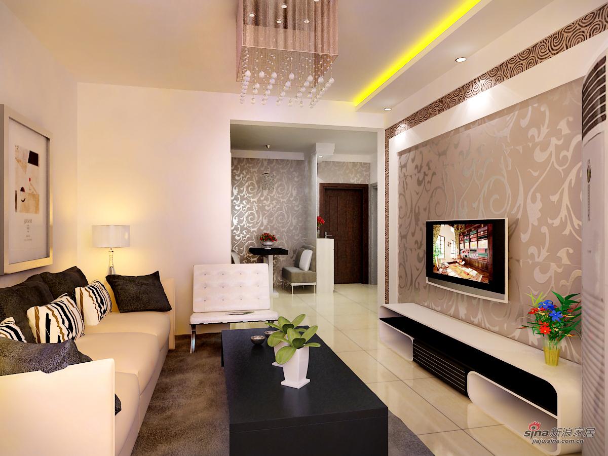 简约 二居 客厅图片来自用户2737786973在天津实创装饰—89平雅仕兰庭现代简约小窝78的分享