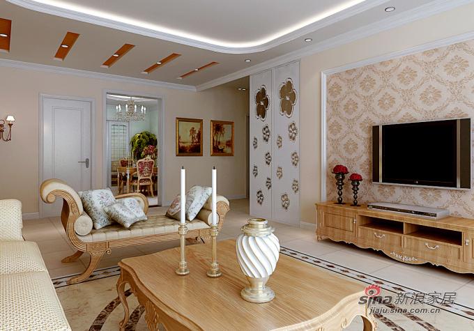 欧式 三居 客厅图片来自用户2772856065在珠江道12号171平米混搭三居60的分享