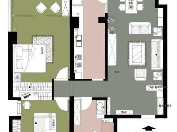 犀地 两居室 美式风格65