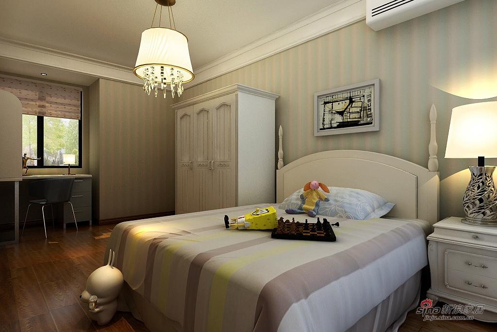 欧式 二居 卧室图片来自用户2746889121在温馨简欧两居室78的分享